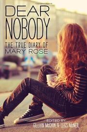 DEAR NOBODY by Gillian McCain