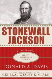 STONEWALL JACKSON by Donald A. Davis