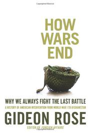 Book Cover for HOW WARS END