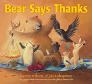 Cover art for BEAR SAYS THANKS