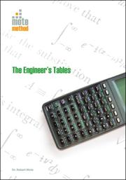 THE ENGINEER'S TABLES by Dr. Robert Mote