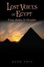 Lost Voices of Egypt by Mfon  Edie