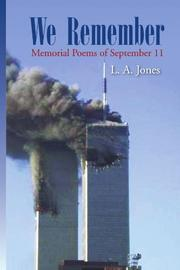 WE REMEMBER by L.A. Hider Jones