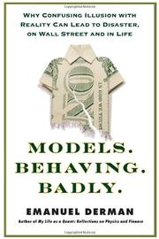 MODELS.BEHAVING.BADLY. by Emanuel Derman