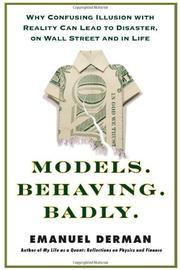 MODELS.BEHAVING.BADLY. by Emanuel Derman