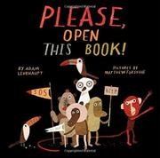 PLEASE, OPEN THIS BOOK! by Adam Lehrhaupt