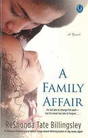 A FAMILY AFFAIR by ReShonda Tate Billingsley