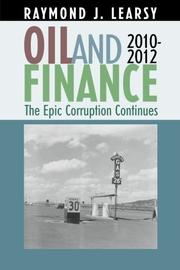 OIL AND FINANCE  by Raymond J. Learsy