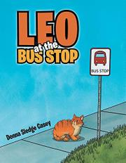 LEO AT THE BUS STOP by Donna Sledge  Casey
