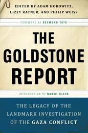 THE GOLDSTONE REPORT by Adam Horowitz