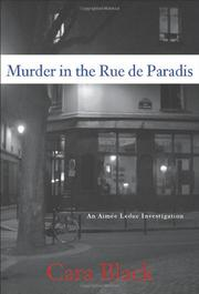 Cover art for MURDER IN THE RUE DE PARADIS