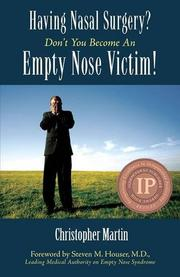 HAVING NASAL SURGERY? by Christopher Martin