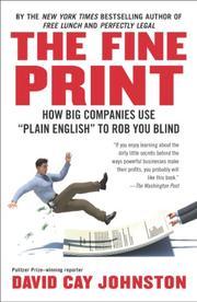 THE FINE PRINT by David Cay Johnston