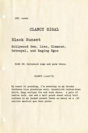 BLACK SUNSET by Clancy Sigal
