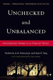 UNCHECKED AND UNBALANCED by Jr. Schwarz