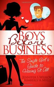 BOYS BEFORE BUSINESS by Jennifer S. Wilkov