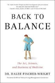 BACK TO BALANCE by Halee  Fischer-Wright