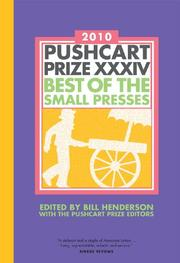 Book Cover for PUSHCART PRIZE XXXIV