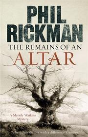 Cover art for THE REMAINS OF AN ALTAR