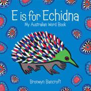 Book Cover for E IS FOR ECHIDNA