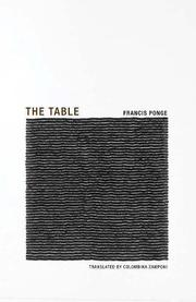 THE TABLE by Frances Ponge