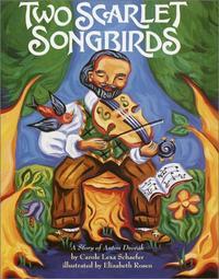 TWO SCARLET SONGBIRDS