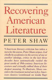 RECOVERING AMERICAN LITERATURE