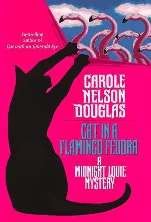 CAT IN A FLAMINGO FEDORA