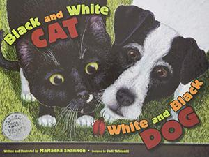 Black and White Cat, White and Black Dog