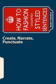 CREATE, NARRATE, PUNCTUATE by Ramy Tadros